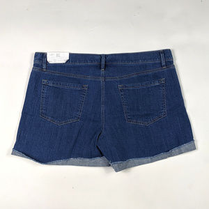 LOFT Shorts - LOFT Denim Roll Short Size 12 Floral Embroidered